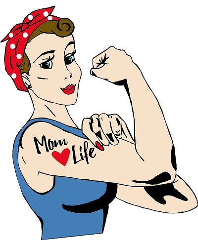 Rosie Riveter - Mom Loves Life Tattoo